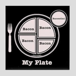 Bacon My Plate Tile Coaster