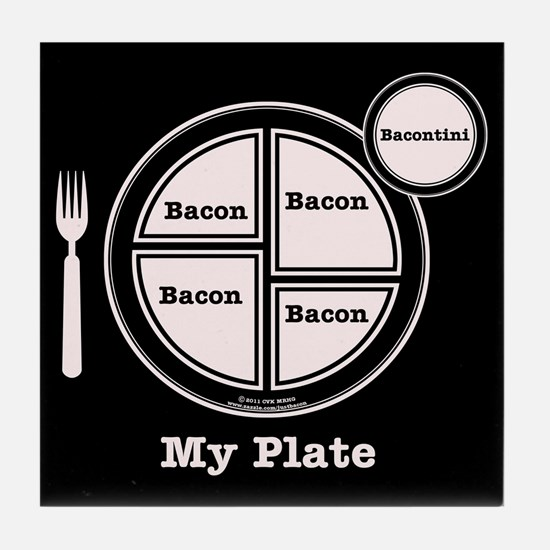 Bacon My Plate Tile Coaster