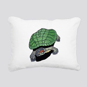 Powered By Turtles Rectangular Canvas Pillow