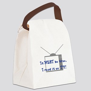Read on TV Light New Canvas Lunch Bag