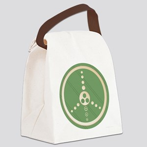 crop circle peace sign black Canvas Lunch Bag