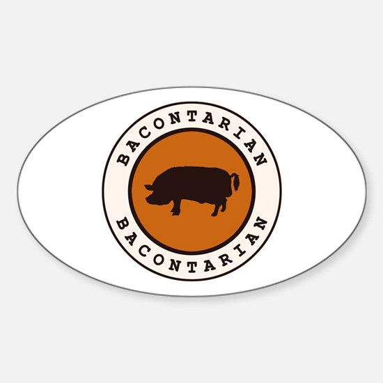 Bacontarian Sticker (Oval)