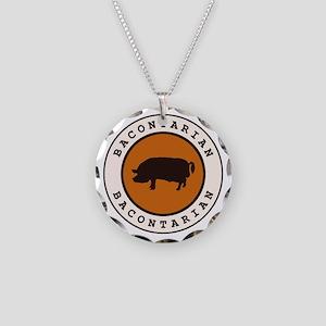 Bacontarian Necklace Circle Charm