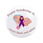 "ES is Never Black and White 3.5"" Button (100"