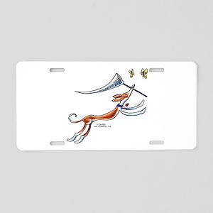 Ibizan Hound Butterflies Aluminum License Plate