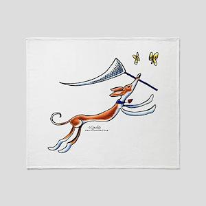 Ibizan Hound Butterflies Throw Blanket