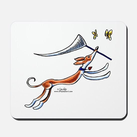Ibizan Hound Butterflies Mousepad