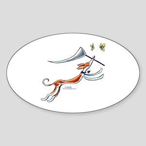 Ibizan Hound Butterflies Sticker (Oval)