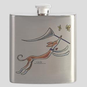 Ibzian Hound Butterflies Flask