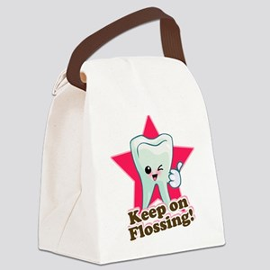 86999964Keep On Flossing Canvas Lunch Bag