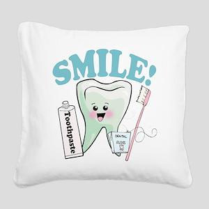 77492056384smile Square Canvas Pillow