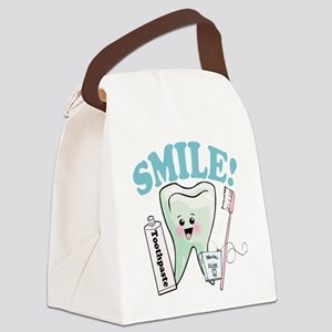 77492056384smile Canvas Lunch Bag