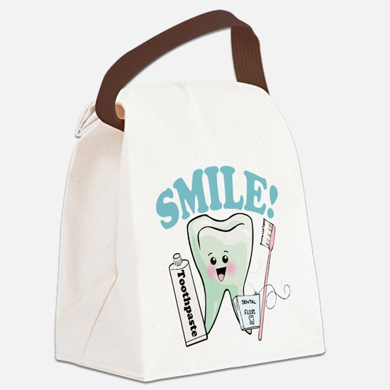 77492056384smile.png Canvas Lunch Bag