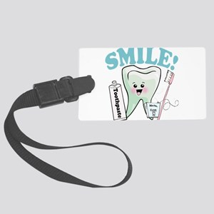 77492056384smile Large Luggage Tag