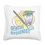 998462552Dental Hygienist.png Square Canvas Pillow