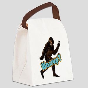 Bigfoot Sasquatch Yetti Wassup Canvas Lunch Bag