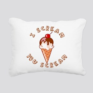 I SCREAM Rectangular Canvas Pillow