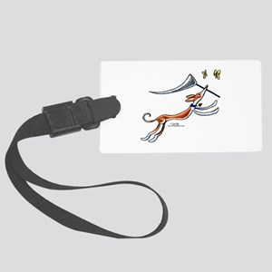 Ibzian Hound Butterflies Large Luggage Tag