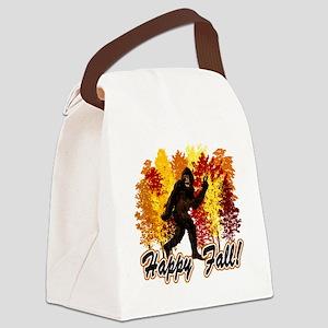 Big Foot Fall Canvas Lunch Bag
