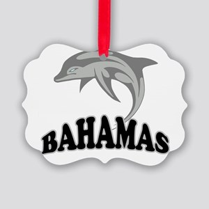 Bahamas Template Picture Ornament
