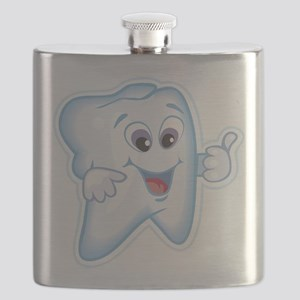 9987466thumbs up tooth Flask