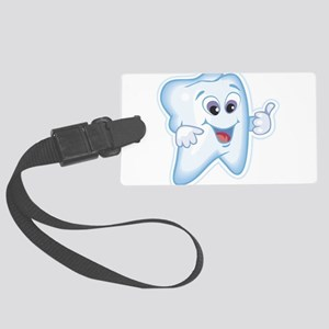 9987466thumbs up tooth Large Luggage Tag