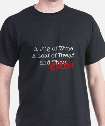 Bacon A Jug of Wine T-Shirt