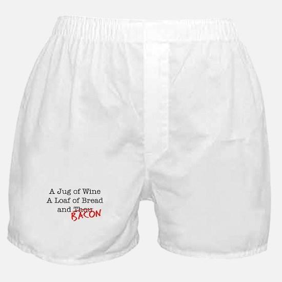 Bacon A Jug of Wine Boxer Shorts
