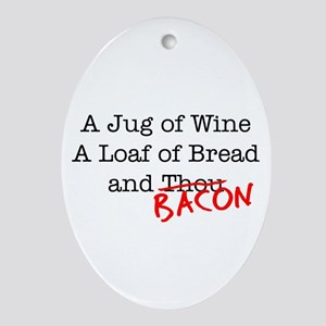 Bacon A Jug of Wine Ornament (Oval)
