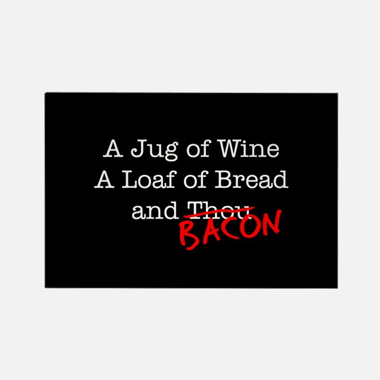 Bacon A Jug of Wine Rectangle Magnet (10 pack)