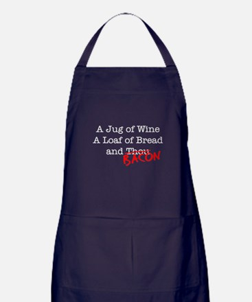 Bacon A Jug of Wine Apron (dark)