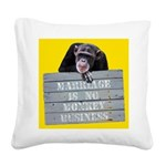 Marriage Monkey Business II Square Canvas Pillow