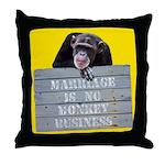 Marriage Monkey Business II Throw Pillow