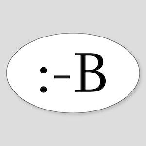 Buckteeth Smiley Oval Sticker