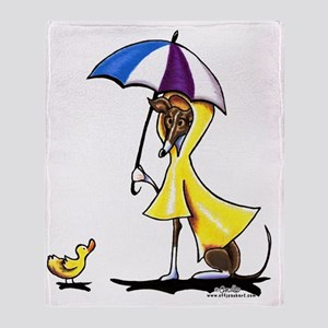 Italian Greyhound Raincoat Throw Blanket