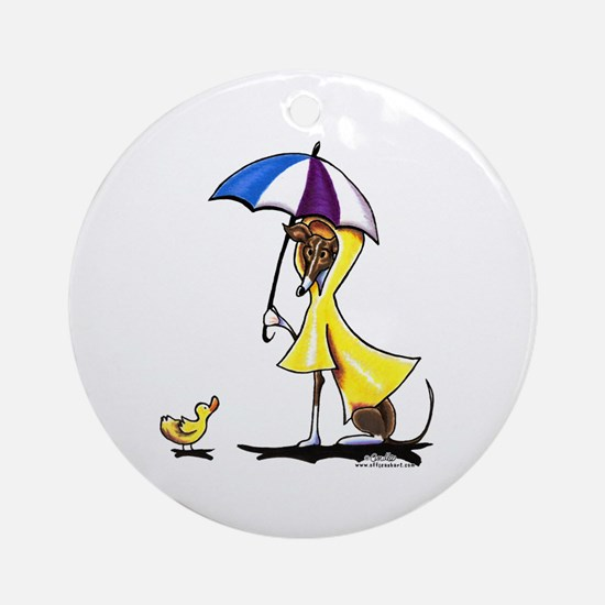 Italian Greyhound Raincoat Ornament (Round)