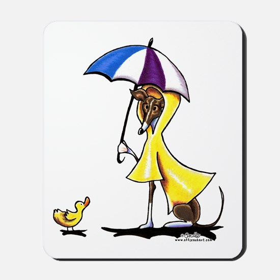 Italian Greyhound Raincoat Mousepad
