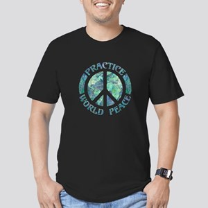 Practice World Peace Men's Fitted T-Shirt (dark)