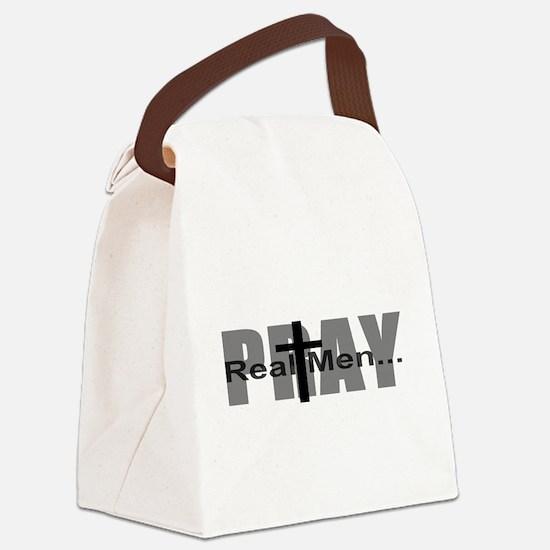Real Men Pray Canvas Lunch Bag