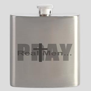 Real Men Pray Flask