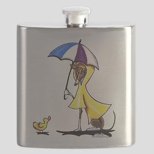 Italian Greyhound Raincoat Flask