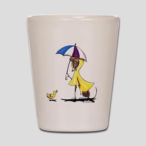 Italian Greyhound Raincoat Shot Glass
