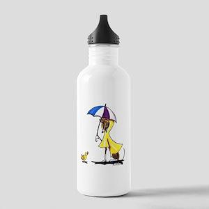 Italian Greyhound Raincoat Stainless Water Bottle
