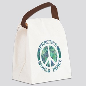 Practice World Peace Canvas Lunch Bag