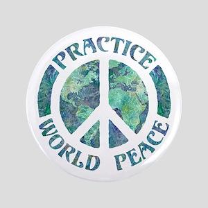 "Practice World Peace 3.5"" Button"