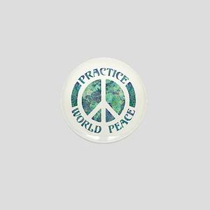 Practice World Peace Mini Button