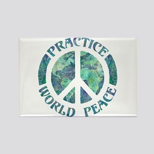 Practice World Peace Rectangle Magnet