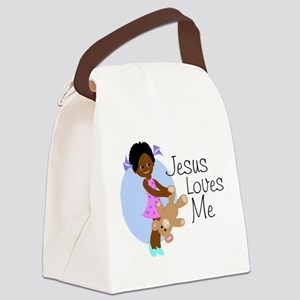 lovesme1abcde Canvas Lunch Bag