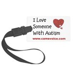 I Love Someone with Autism Large Luggage Tag
