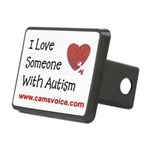 I Love Someone With Autism Rectangular Hitch Cover